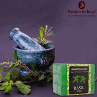 Purify your soul! 100 % Organic Basil Handmade Soap - Passion Indulge